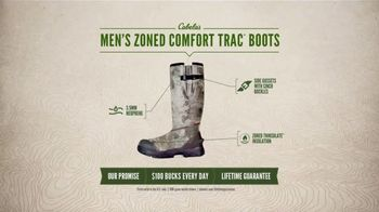 Cabela's Men's Zoned Comfort Trac Boots TV Spot, 'Everyday Value' - 251 commercial airings