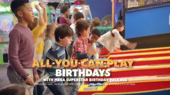 Chuck E. Cheese's All-You-Can-Play Birthdays TV Spot, 'Superstar Party' - 912 commercial airings