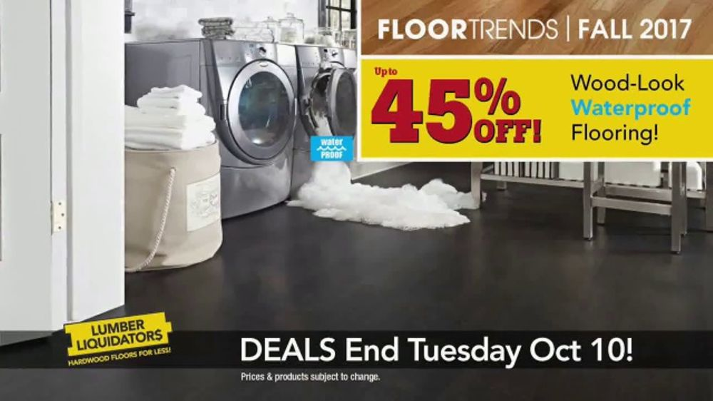 Lumber Liquidators TV Commercial, 'Wood-Look Water Proof Flooring: Dark Hollow'