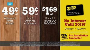 Lumber Liquidators TV Spot, 'Wood-Look Water Proof Flooring: Dark Hollow' - Thumbnail 10