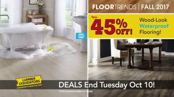 Lumber Liquidators TV Spot, 'Wood-Look Water Proof Flooring: Dark Hollow' - Thumbnail 3