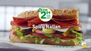 Subway $2.99 Fresh Value Menu TV Spot, 'A Deal' Song by Leroy Van Dyke - Thumbnail 5