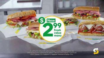 Subway $2.99 Fresh Value Menu TV Spot, 'A Deal' Song by Leroy Van Dyke - Thumbnail 9