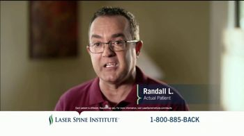 Laser Spine Institute TV Spot, 'Randall'