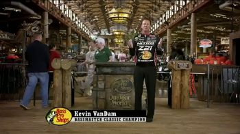Bass Pro Shops TV Spot, 'Men's Shirts and Blinds' Featuring Kevin VanDam - 76 commercial airings
