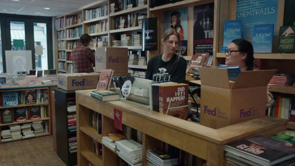 FedEx Ground TV Commercial, 'Conspiracy Bookstore'