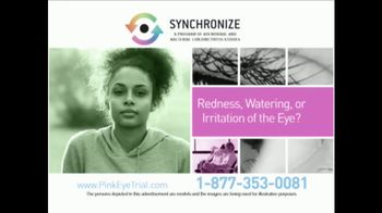 Synchronize TV Spot, 'Pink Eye Trial' - Thumbnail 2