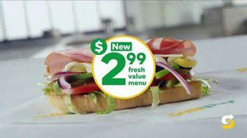 Subway $2.99 Fresh Value Menu TV Spot, 'Jaw Dropping' - Thumbnail 2