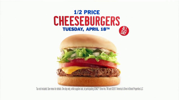 Sonic Drive-In Half-Price Cheeseburgers TV Spot, '2017 Tax Day' - Thumbnail 9