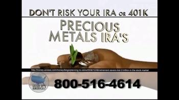 Listen Up America TV Spot, 'IRA or 401K Investments'