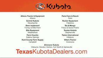 Kubota Orange Opportunity Sales Event TV Spot, 'Take on the Tough Jobs' - Thumbnail 9