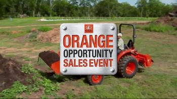 Kubota Orange Opportunity Sales Event TV Spot, 'Take on the Tough Jobs' - Thumbnail 1