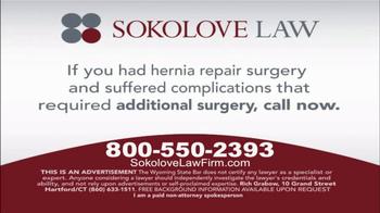 Sokolove Law TV Spot, 'Hernia Mesh Recall' - Thumbnail 7