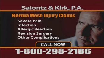 Saiontz & Kirk, P.A. TV Spot, 'Hernia Mesh Injury Claims' - Thumbnail 7