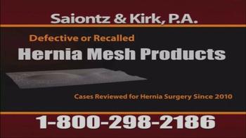 Saiontz & Kirk, P.A. TV Spot, 'Hernia Mesh Injury Claims' - Thumbnail 2