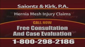 Saiontz & Kirk, P.A. TV Spot, 'Hernia Mesh Injury Claims' - Thumbnail 5