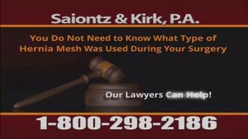 Saiontz & Kirk, P.A. TV Spot, 'Hernia Mesh Injury Claims' - Thumbnail 6
