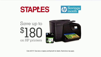 Staples HP Savings Month TV Spot, 'Tattoo Parlor: HP Printers' - Thumbnail 7