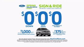 Ford Spring Sales Drive Event TV Spot, '2017 Explorer' [T2] - Thumbnail 6