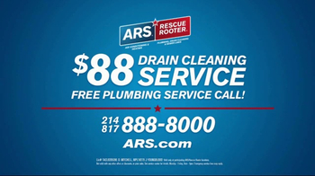 ARS Rescue Rooter Drain Cleaning Service TV Spot, 'Clogged Drains' - Thumbnail 6