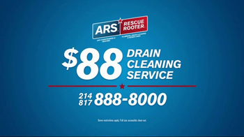 ARS Rescue Rooter Drain Cleaning Service TV Spot, 'Clogged Drains' - Thumbnail 4
