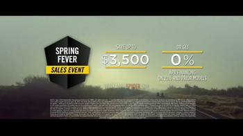 Can-Am Spring Fever Sales Event TV Spot, 'Spyder: Open Your Road' - Thumbnail 8
