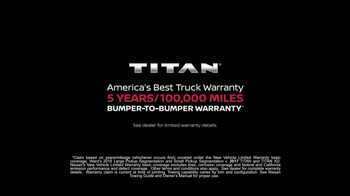 2017 Nissan Titan TV Spot, 'Extra Mile: Warranty' [T1] - Thumbnail 10
