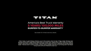2017 Nissan Titan TV Spot, 'Extra Mile: Warranty' [T1] - Thumbnail 9