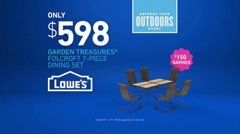 Lowe's Refresh Your Outdoors Event TV Spot, 'The Moment: Not the Look' - Thumbnail 9