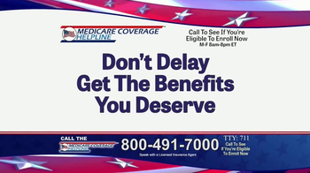 Medicare Coverage Helpline TV Spot, 'Accepting Calls' - Thumbnail 3