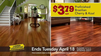 Lumber Liquidators TV Spot, 'Spring 2017 Floor Trends: Hardwood and Bamboo' - Thumbnail 5