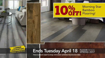 Lumber Liquidators TV Spot, 'Spring 2017 Floor Trends: Hardwood and Bamboo' - Thumbnail 8