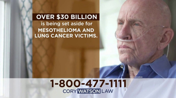 Cory Watson Law TV Spot, 'Mesothelioma and Lung Cancer Victims' - Thumbnail 2