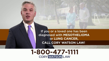 Cory Watson Law TV Spot, 'Mesothelioma and Lung Cancer Victims' - Thumbnail 3