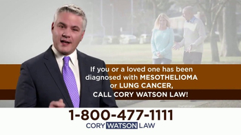 Cory Watson Law TV Spot, 'Mesothelioma and Lung Cancer Victims' - Thumbnail 4