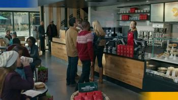 VISA TV Spot, 'Starbucks: Tap Into the Holiday Spirit' Ft. Jonathan Stewart - Thumbnail 1