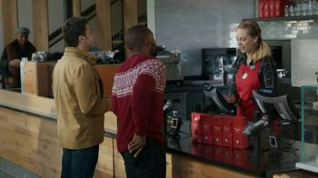 VISA TV Spot, 'Starbucks: Tap Into the Holiday Spirit' Ft. Jonathan Stewart - Thumbnail 2
