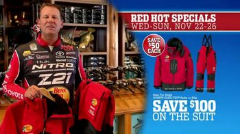 Bass Pro Shops 5 Day Sale TV Spot, 'Red Hot: Shirts, Hoodies and Rain Suit' - Thumbnail 8