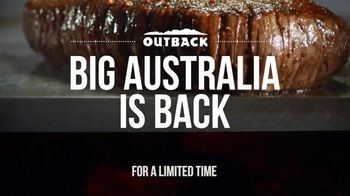 Outback Steakhouse Big Australia TV Spot, \'Back With Our Biggest Entrees\'