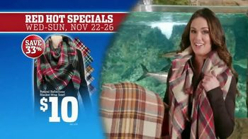 Bass Pro Shops 5 Day Sale TV Spot, 'Red Hot: Blanket-Wrap Scarves' - 13 commercial airings