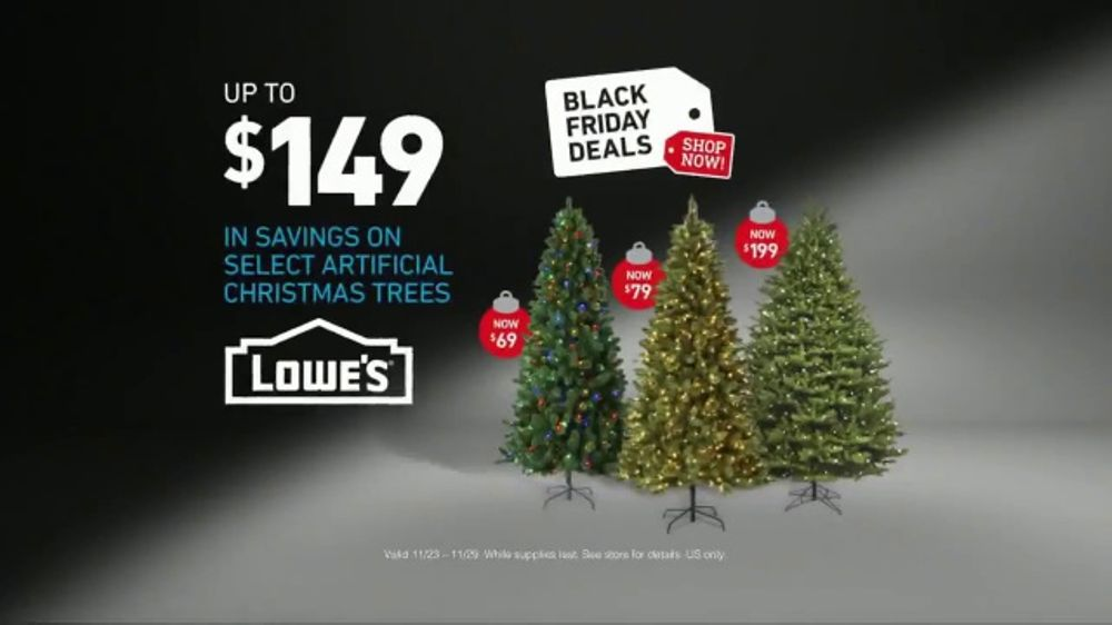 lowes black friday deals tv commercial snowman artificial trees ispottv - Christmas Tree Black Friday