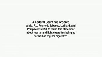 Philip Morris USA, R.J. Reynolds, Altria & Lorillard TV Spot, 'Not Safe'
