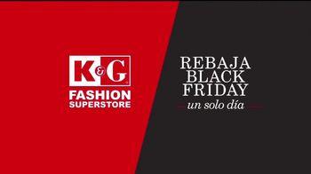 K&G Fashion Superstore Rebaja Black Friday TV Spot, 'Trajes' [Spanish]