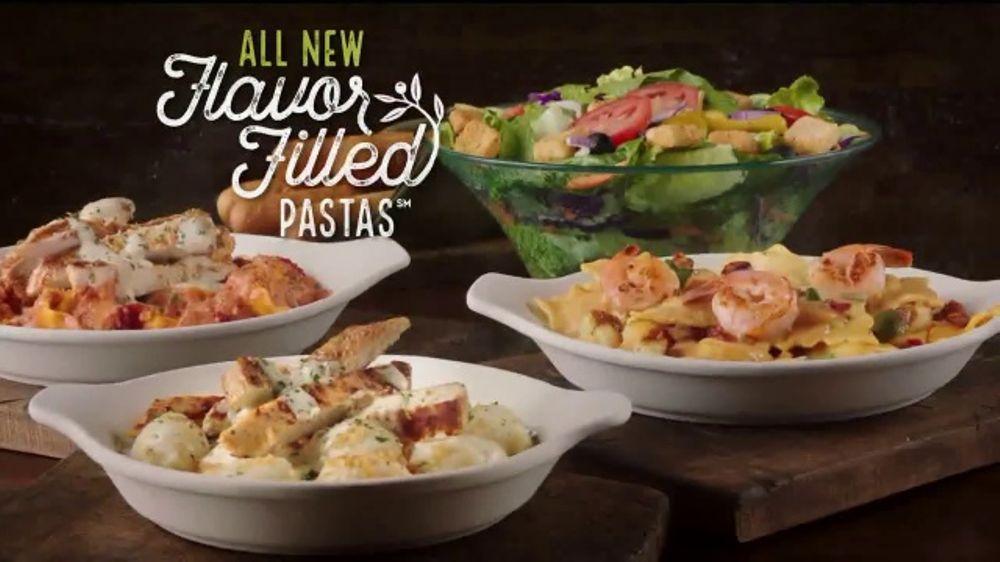 olive garden flavor filled pasta tv commercial get together ispottv - Olive Garden Lunch Duos