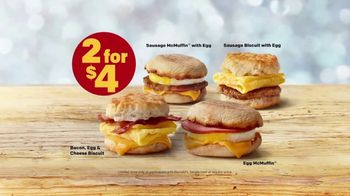 McDonald's Breakfast Sandwiches TV Spot, 'Side of the Bed: Two for $4' - Thumbnail 8