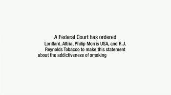 Philip Morris USA, R.J. Reynolds, Altria & Lorillard TV Spot, 'Addiction'