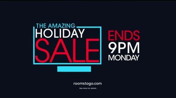 Rooms to Go Holiday Sale TV Spot, 'Interest Free Financing' - Thumbnail 9