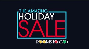 Rooms to Go Holiday Sale TV Spot, 'Interest Free Financing' - Thumbnail 1