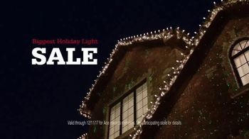 ACE Hardware Biggest Holiday Light Sale TV Spot, 'Huge Holiday Savings' - 1139 commercial airings
