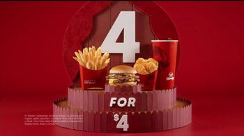 Wendy's 4 for $4 TV Spot, 'El regreso de la Double Stack' [Spanish] - Thumbnail 3